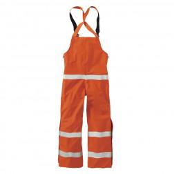 Men's flame-resistant rainwear bib overall