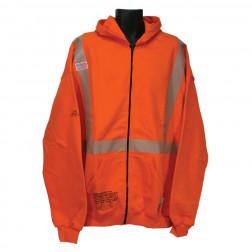Class II FR Hooded Zip-Up Sweatshirt