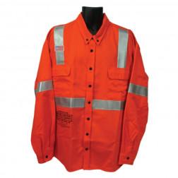 9oz. 100% cotton hotwork Long sleeve button down