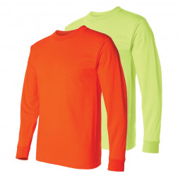 Usa made 100% cotton longsleeve hydrowick poly Enhanced visibility tee