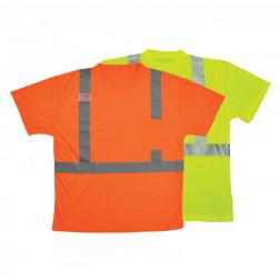 Moisture wicking class II short sleeve T-shirt