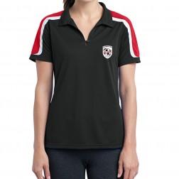 Ladies Tricolor Shoulder Micropique Sport-Wick Polo