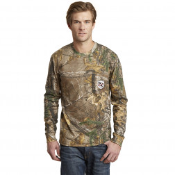 Long Sleeve Explorer 100% Cotton T-Shirt with Pocket