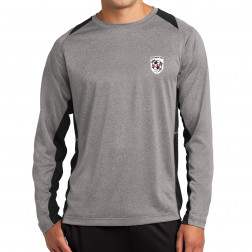 Long Sleeve Heather Colorblock Contender Tee