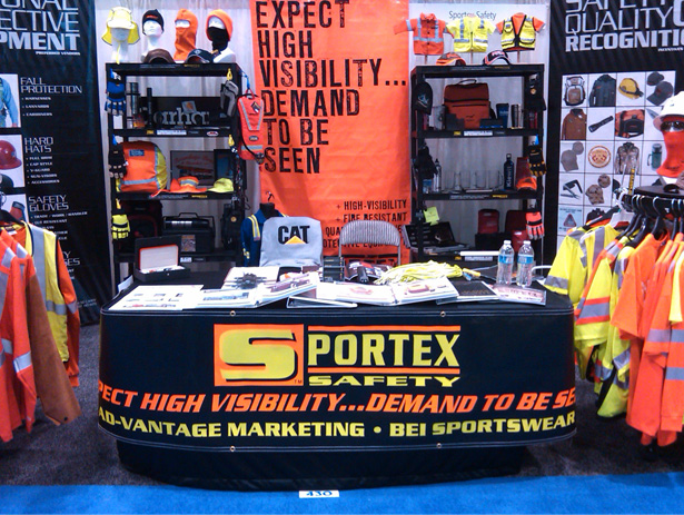 Sportex Safety Booth at ASSE 2011 Chicago