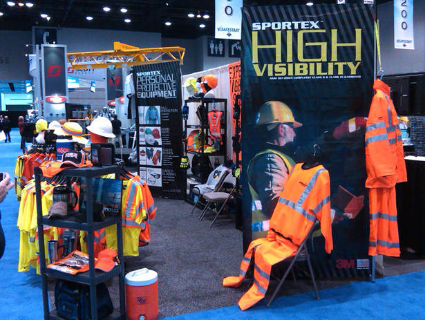 Sportex Safety ASSE Booth Side Shot