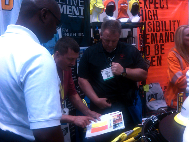 Larry Deutsch showing the goods at ASSE 2011