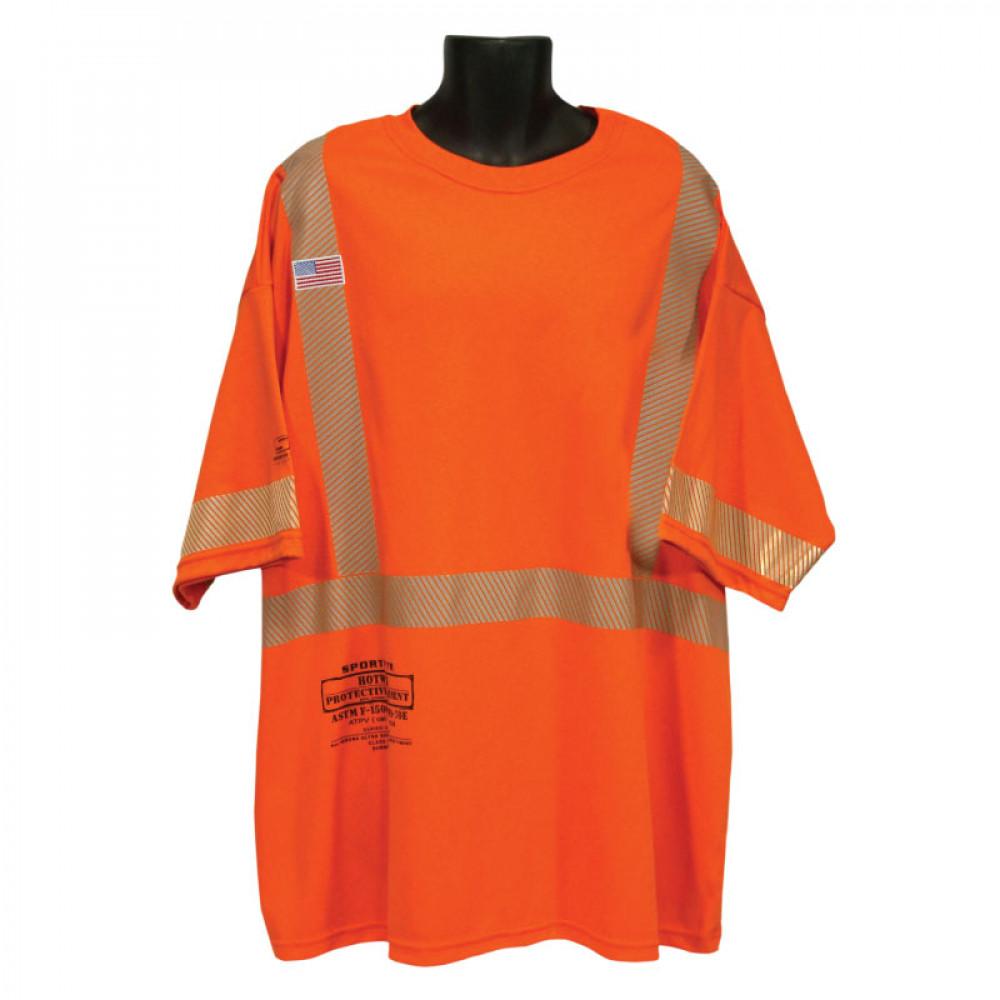 58d14aa8bb4a Class II FR Short Sleeve T-Shirt with No Pocket - Class II-III FR Shirts - Fire  Resistant