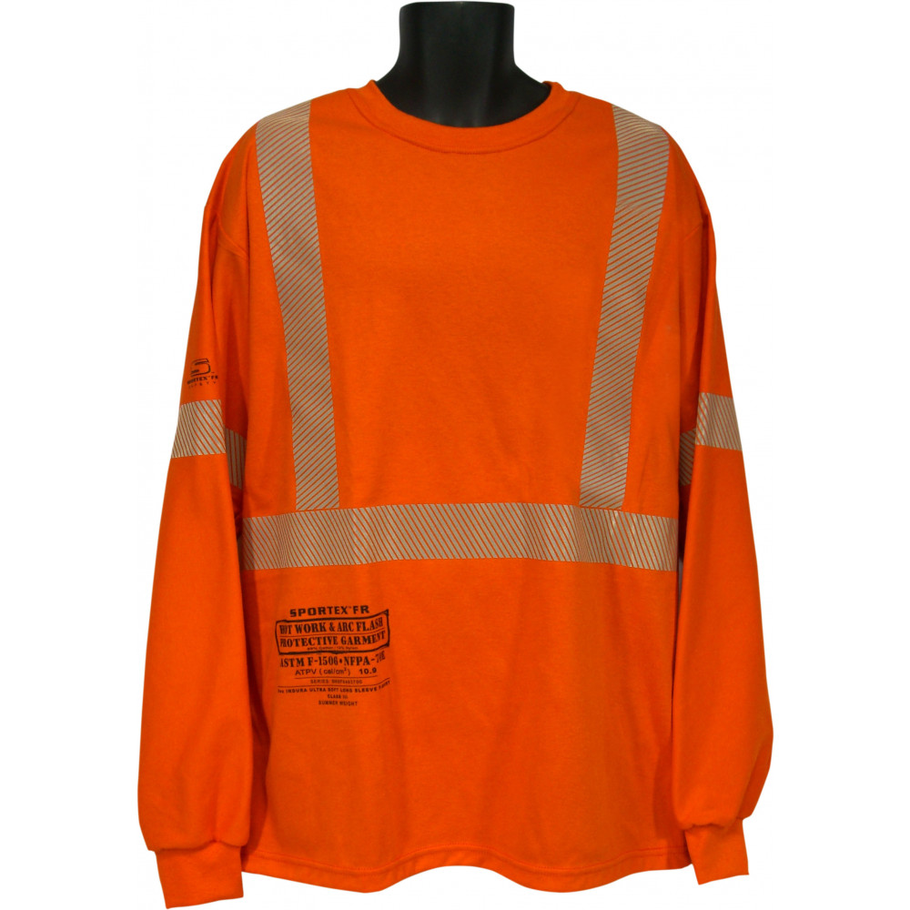 40fb7cd537d3 Class III FR Long Sleeve T-Shirt with No Pocket - Class II-III FR Shirts - Fire  Resistant