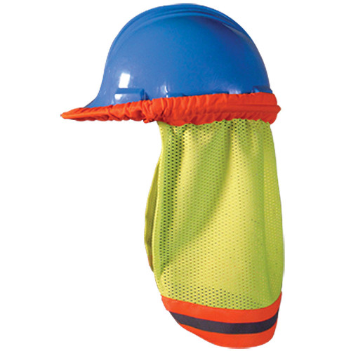 High Visibility Mesh Hard Hat Shade