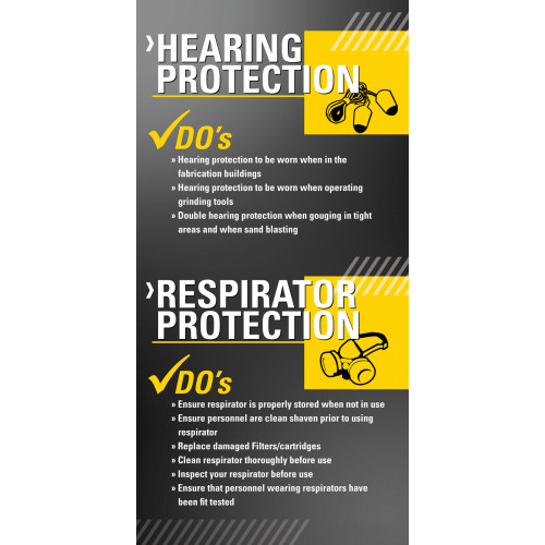 Do's and Don'ts - Hearing / Respirator Protection
