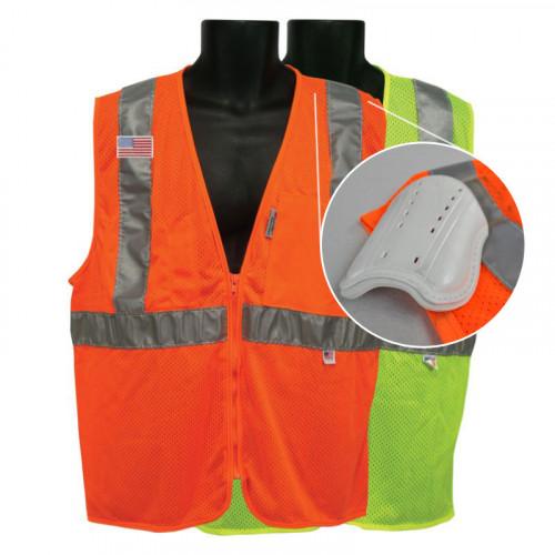 All mesh vest 2 pocket vest with SafeShield shoulder inserts