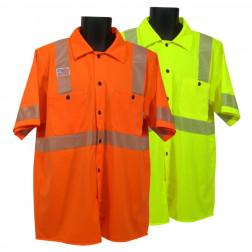 Short sleeve button down Work shirt