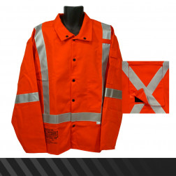 Class III Welding & Electrical Jacket w/ Fall Protection - 9 oz.