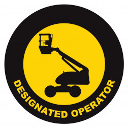 Designated Operator Lift Decal