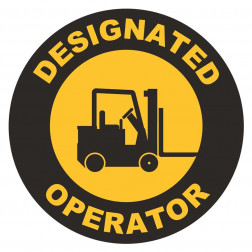 Designated Operator Forklift Decal
