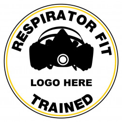 Respirator Fit Trained Decal