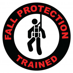 Fall Protection Trained Decal