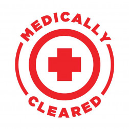 Medically Cleared Decal