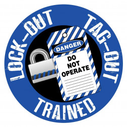 Lock Out Tag Out Decal