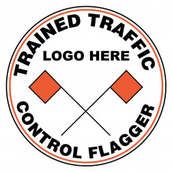 Trained Traffic Control Flagger Decal