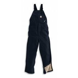 FLAME-RESISTANT DUCK BIB OVERALL/QUILT LINED
