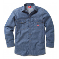 Flame Resistant Long SleeveDickies Denim Snap Front Shirt