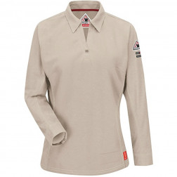 Flame Resistant IQ Womens Long Sleeve Polo