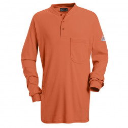 Flame Resistant Long Sleeve Henley T Shirt