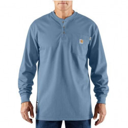 FLAME-RESISTANT FORCE COTTON LONG-SLEEVE HENLEY