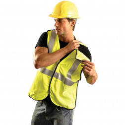 Class II Premium Flame Resistant 5-pt. Break-Away Solid Vest HRC