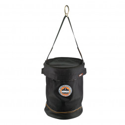 SYNTHETIC LEATHER BOTTOM BUCKET - D-RINGS WITH TOP