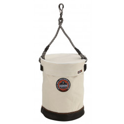 LEATHER BOTTOM BUCKET-SWIVEL WITH TOP