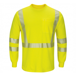 Flame Resistant Hi Visibilty Long Sleeve T Shirt