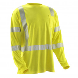 HI-VIS STRONGKNIT LONG SLEEVE SHIRT
