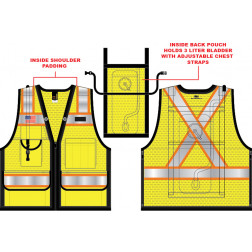 10 Pocket Hydration Vest