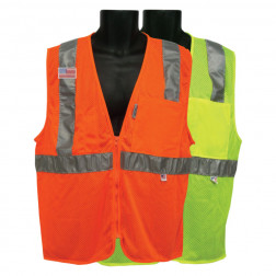 All mesh vest 2 pocket vest