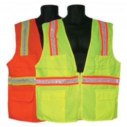 Fabric Front/Mesh Back Surveyors Vest