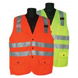 Fabric front/mesh back Vest