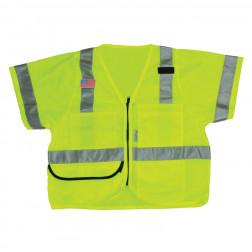 Fabric front mesh back 5 pocket foremans vest