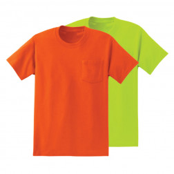 50/50 hydrowick poly Enhanced visibility tee w/ pocket