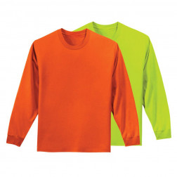 50/50 longsleeve hydrowick poly Enhanced visibility (no pocket)