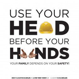 Heads before Hands Safe Choice - White - Square