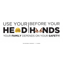 Heads before Hands Safe Choice - White - Long