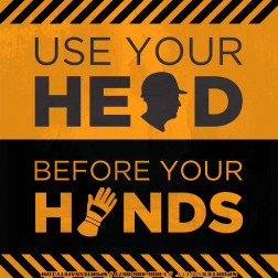 Heads before Hands - Safety  -Square