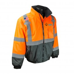 CLASS 3 TWO-IN-ONE HIGH VISIBILITY BOMBER SAFETY JACKET