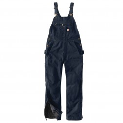 Carhartt Quilt Lined Washed Duck Bib Overall