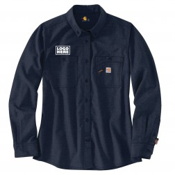 Carhartt TW147 W Flame-Resistant Force Relaxed Fit Lightweight Long-Sleeve Button-Front Shirt
