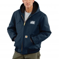 Carhartt Quilted-Flannel-Lined Duck Active Jac
