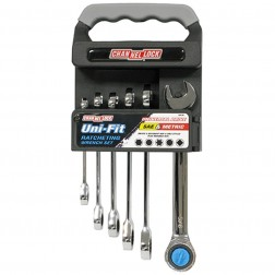 6 pc Ratcheting Wrench Set Uni-fit